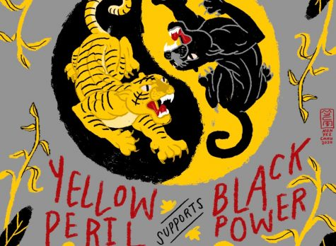 "Seattle-based artist Monyee Chau re-popularized the slogan ""Yellow peril supports black power"" after creating this poster in the wake of George Floyd"