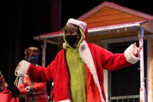 Dressed up in green and red, senior Landon Simms starred in the winter play.