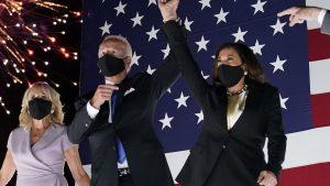 Joe Biden and Kamala Harris celebrate their victory on Election Night.